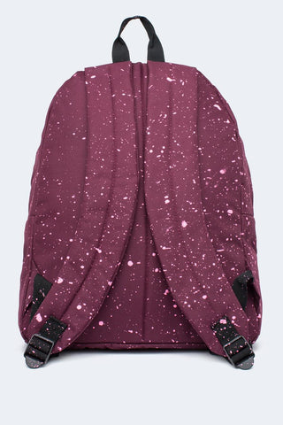 HYPE BURGUNDY WITH PINK SPECKLE BACKPACK