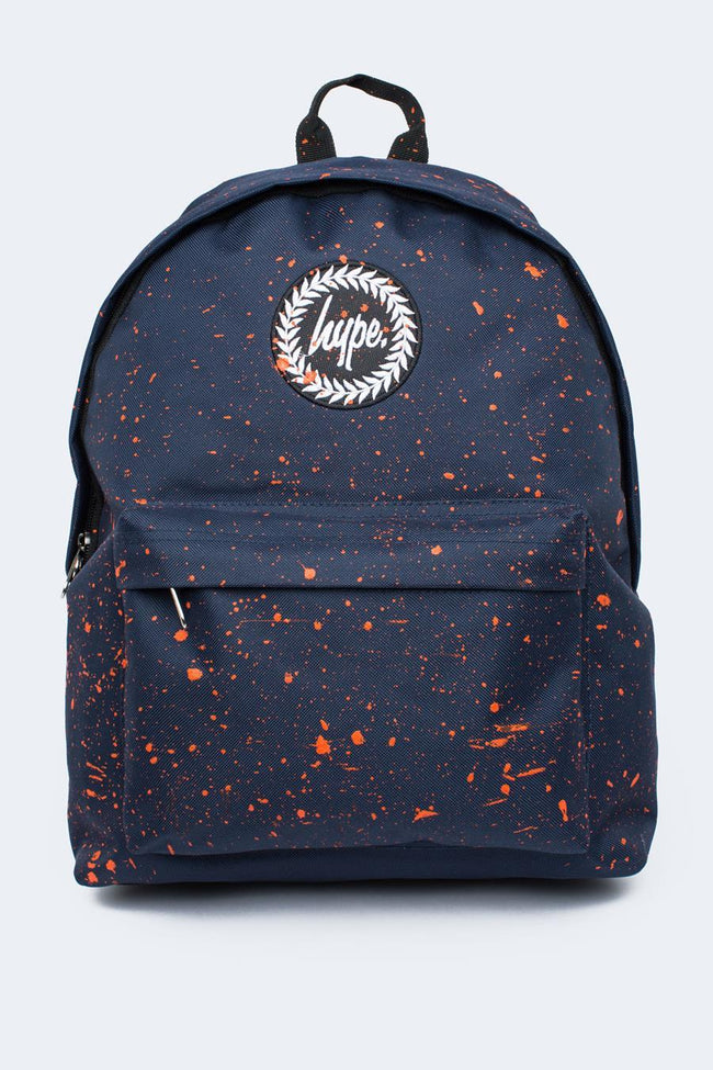 HYPE NAVY WITH ORANGE SPECKLE BACKPACK