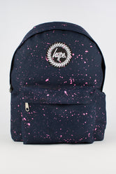 HYPE NAVY WITH PINK SPECKLE BACKPACK