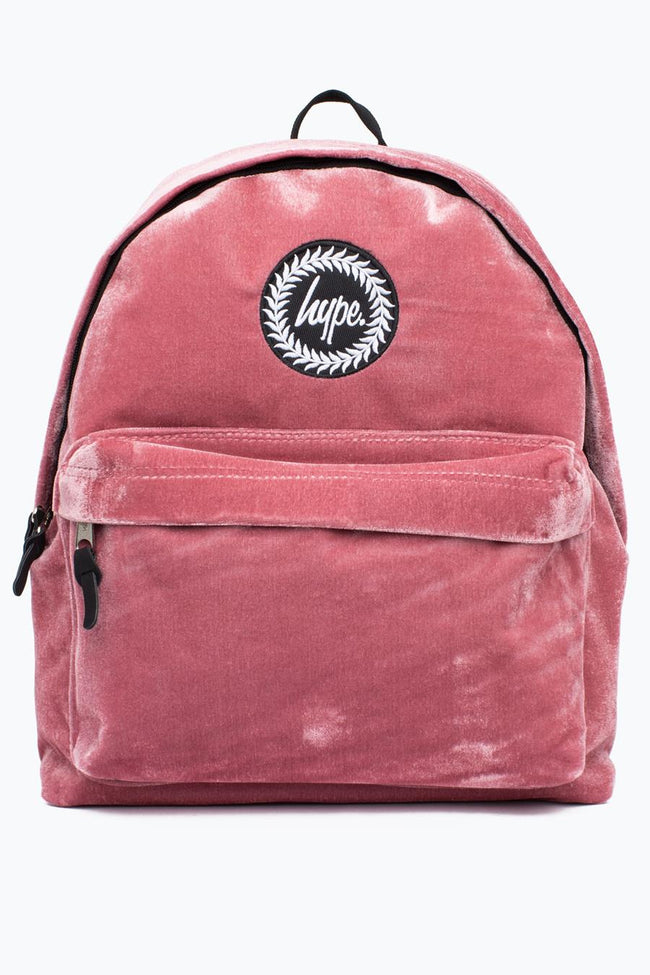HYPE PINK VELOUR BACKPACK