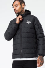 HYPE BLACK CORE MENS PUFFA JACKET