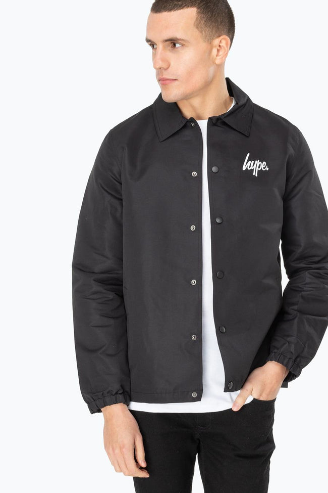 HYPE BLACK CORE MENS COACH JACKET