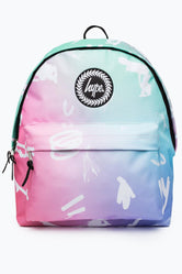 HYPE PINK RAINBOW SCRIBBLE BACKPACK