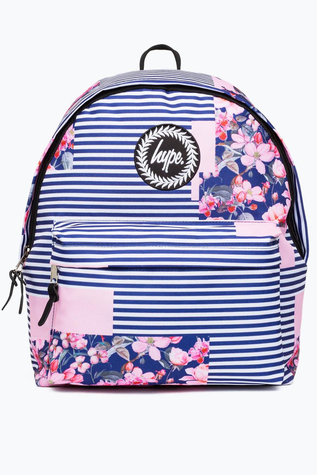 HYPE MULTI FLORAL STRIPE BACKPACK