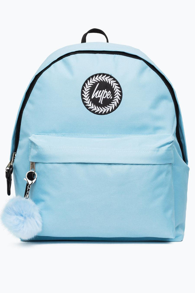 HYPE BABY BLUE POM POM BACKPACK