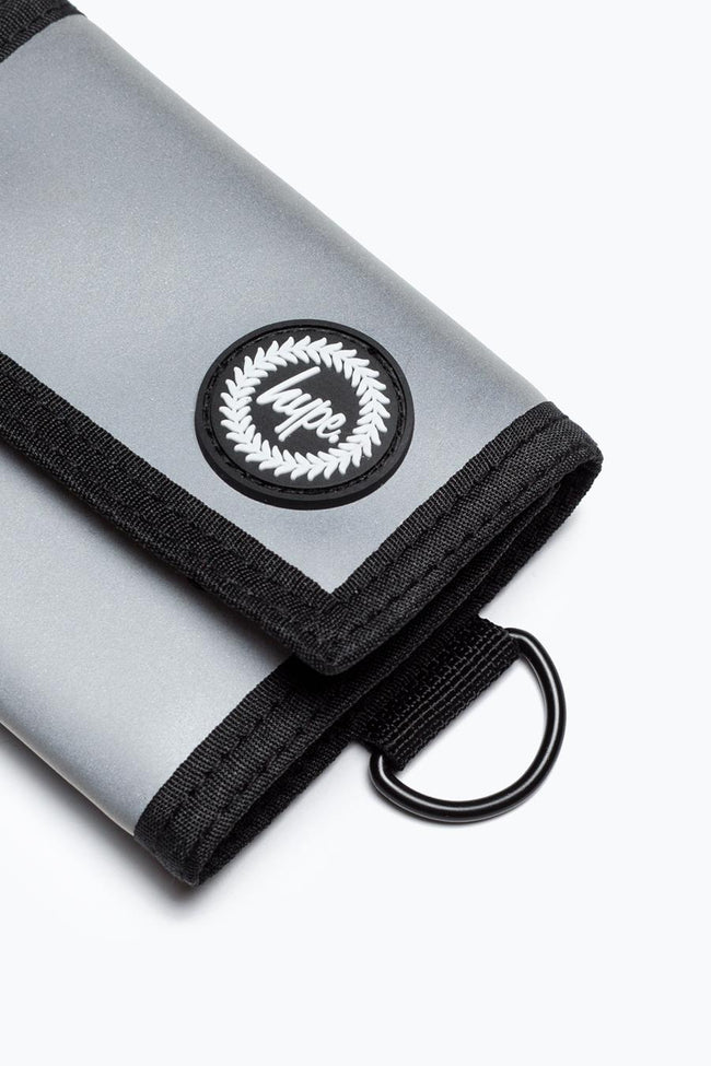 HYPE GREY REFLECTIVE TRIFOLD WALLET
