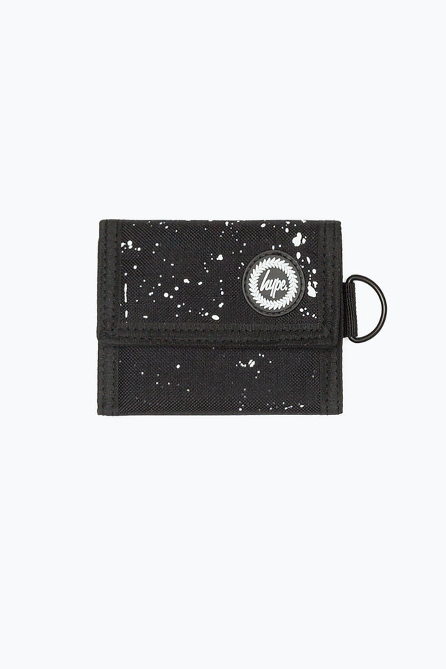 HYPE BLACK SPECKLE TRIFOLD WALLET