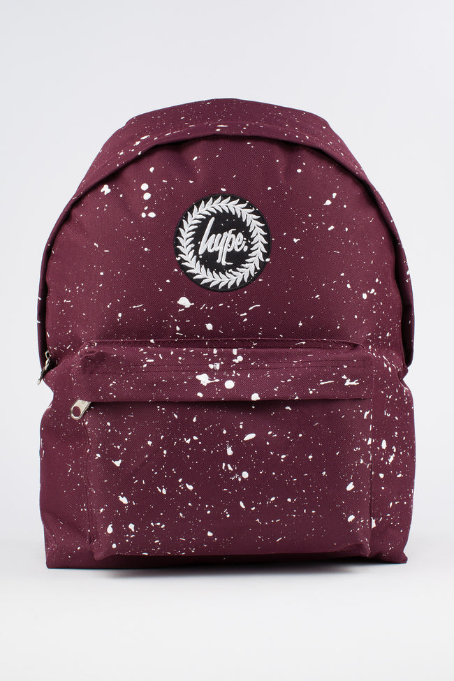 HYPE BURGUNDY WITH WHITE SPECKLE BACKPACK