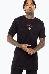 HYPE DISNEY BLACK LOCKUP MENS T-SHIRT