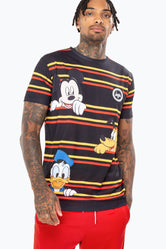 HYPE DISNEY BLACK STRIPE MEN'S SUB T-SHIRT