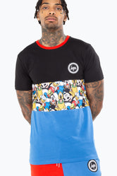 HYPE DISNEY BLACK SQUAD PANEL MENS T-SHIRT