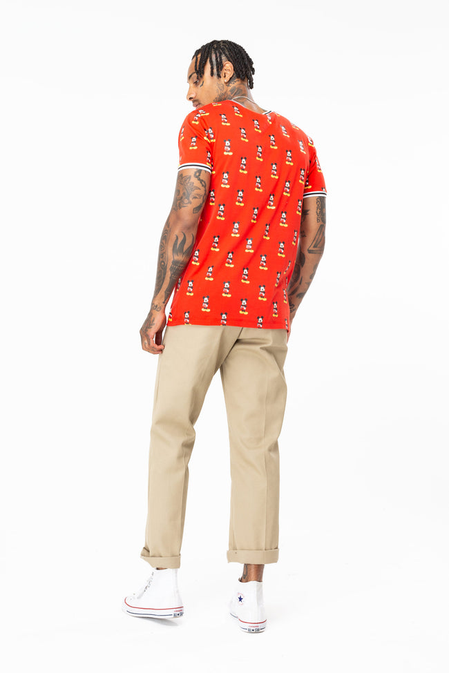 HYPE DISNEY RED MICKEY AOP MENS T-SHIRT