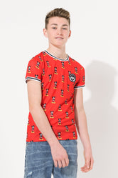 HYPE DISNEY RED MICKEY AOP KIDS T-SHIRT