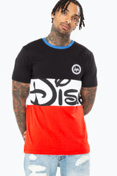 HYPE DISNEY BLACK LOGO PANEL MENS T-SHIRT