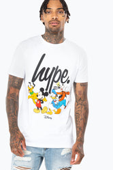 HYPE DISNEY WHITE SQUAD SCRIPT MENS T-SHIRT