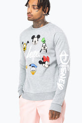 HYPE DISNEY GREY CAST SCRIPT MEN'S CREWNECK
