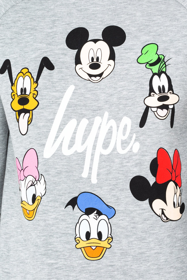 HYPE DISNEY GREY CAST SCRIPT MENS CREW NECK