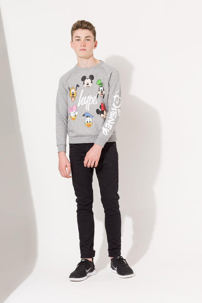HYPE DISNEY GREY CAST SCRIPT KIDS CREW NECK