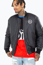 HYPE DISNEY BLACK MICKEY MEN'S BOMBER JACKET