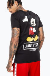 HYPE DISNEY BLACK MICKEY CREST MEN'S T-SHIRT