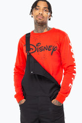 HYPE DISNEY RED SPLATTER MEN'S L/S T-SHIRT