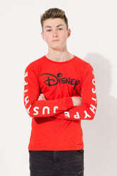 HYPE DISNEY RED SPLATTER KIDS L/S T-SHIRT