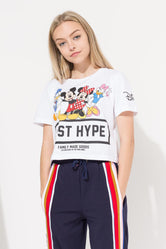 HYPE DISNEY WHITE SQUAD KIDS CROP T-SHIRT