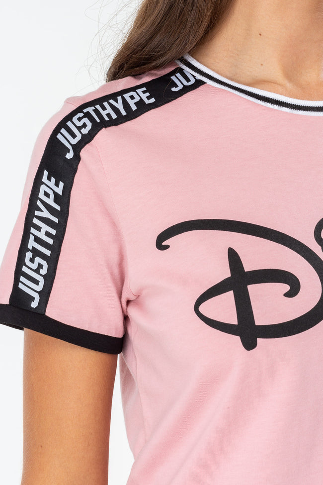 HYPE DISNEY PINK TAPE WOMENS T-SHIRT
