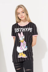HYPE DISNEY BLACK DAISY SPORT STRIPE KIDS T-SHIRT