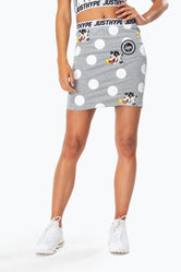 HYPE DISNEY GREY POLKA WOMEN'S SKIRT