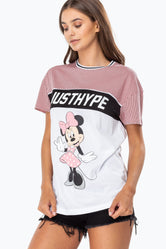 HYPE DISNEY PINK MINNIE SPORTS WOMEN'S T-SHIRT