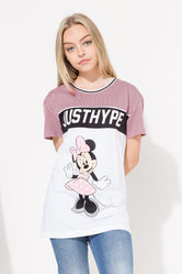 HYPE DISNEY PINK MINNIE SPORTS KIDS T-SHIRT