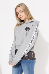 HYPE DISNEY GREY GIRL SQUAD STRIPE KIDS PULLOVER HOODIE