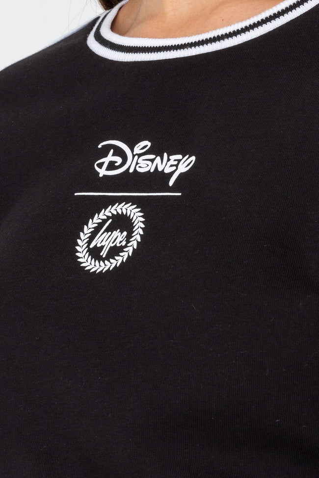 HYPE DISNEY BLACK MINNIE FACE WOMENS CREW NECK
