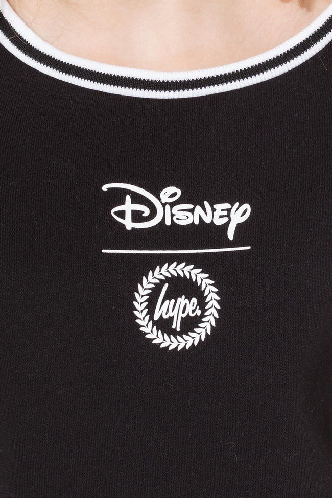 HYPE DISNEY BLACK MINNIE FACE KIDS CREW NECK