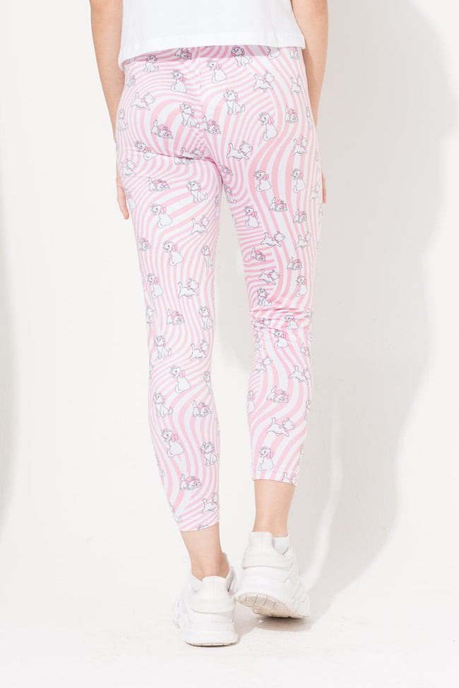 HYPE DISNEY PINK MARIE WARP KIDS LEGGINGS