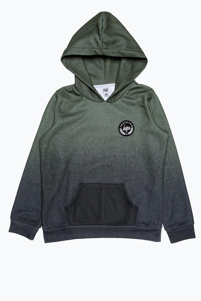 HYPE KHAKI SPECKLE FADE CREST KIDS PULLOVER HOODIE