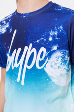 HYPE NAVY PLANET SPACE FADE BOYS T-SHIRT