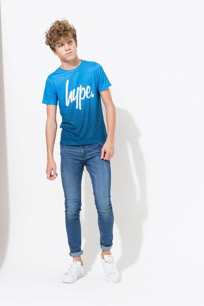 HYPE BLUE FADE SPECKLE KIDS T-SHIRT