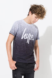 HYPE WHITE SPECKLE FADE BOYS T-SHIRT