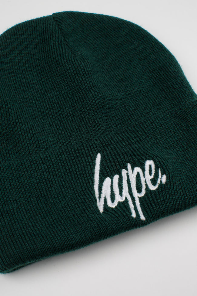 HYPE FOREST GREEN SCRIPT BEANIE