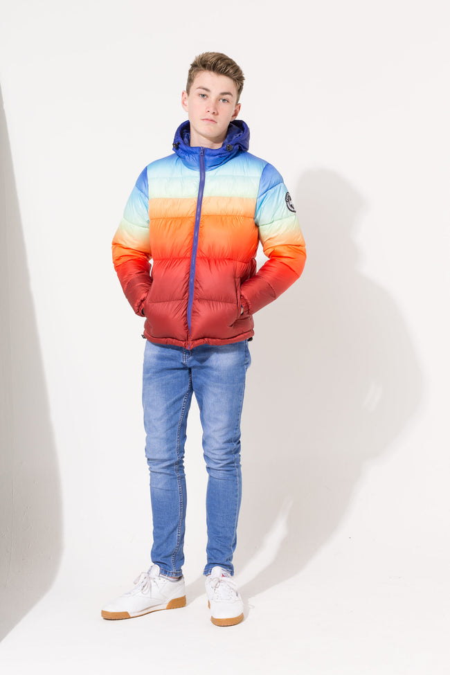 HYPE SUNDOWN FADE KIDS PUFFER JACKET