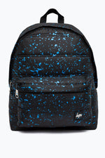 HYPE BLACK PANELLED WITH BLUE SPECKLE BACKPACK