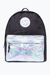 HYPE BLACK WITH SILVER HOLO POCKET BACKPACK