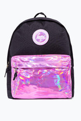 HYPE BLACK WITH PINK HOLO POCKET BACKPACK
