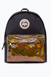 HYPE BLACK WITH COFFEE HOLO POCKET BACKPACK