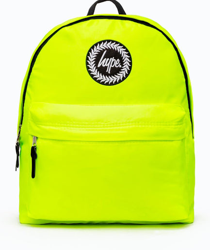 HYPE YELLOW FLURO BACKPACK