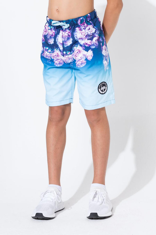 HYPE ROSE FADE KIDS SWIM SHORTS