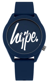 HYPE NAVY SCRIPT KIDS WATCH