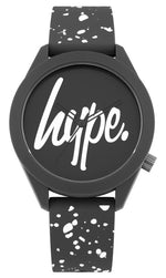 HYPE GREY AND WHITE SPECKLE SCRIPT WATCH